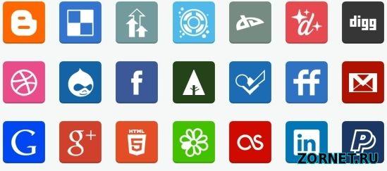 Подборка иконок социальных сетей скачать бесплатно