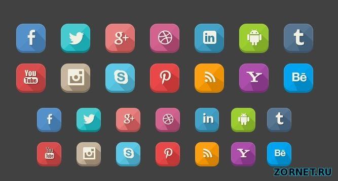Подборка иконок социальных сетей скачать