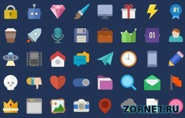 Набор векторных иконок для сайта