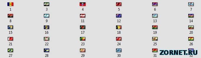 Флаги стран на сайт uCoz