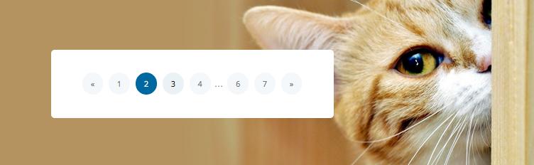 синее кнопки переключателя страниц