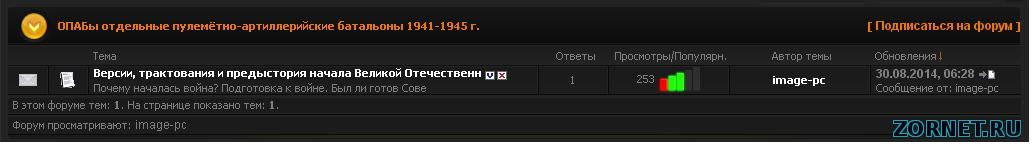 Скрипт популярность темы на форуме ucoz