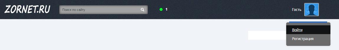 информационная панель для сайта uCoz