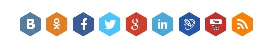 Социальные иконки для сайта
