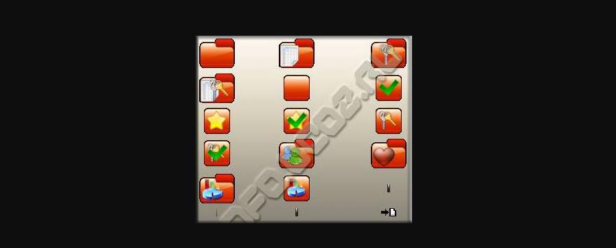 Красные иконки для сайта ZOR