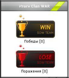 Итоги кв для кс cs 1.6 cw clan war win lose для  ucoz