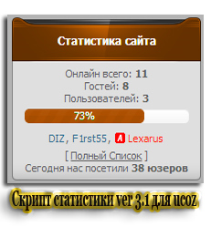 Скрипт статистики ver 3.1 для ucoz