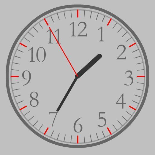Круглые часы для сайта - Серые