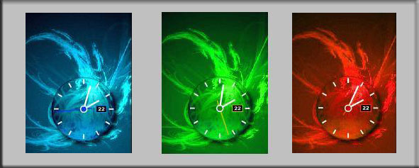 Скрипт часы для сайта в трех тонах