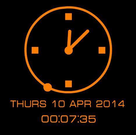 Часы для сайта ucoz (Оранжевые)