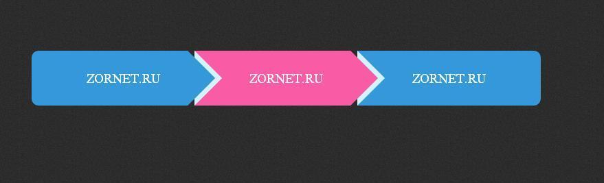 Оригинальное горизонтальное меню на CSS3 для uCoz