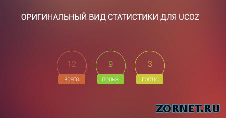 Стильный вид статистики для uCoz сайта