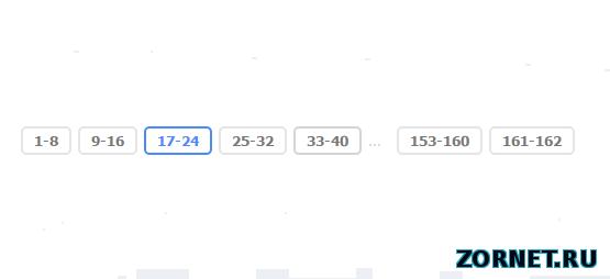 Переключатель страниц для uCoz в синем гамме