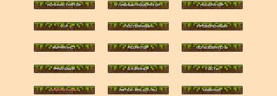 Кнопки для сайта на тему Minecraft