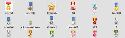 Значки и медальки для сайта