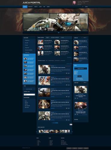 Красивый шаблон Juicy Portal для сайта uCoz