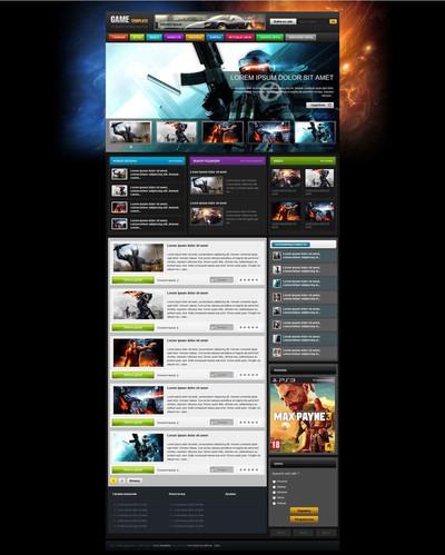 Главная страница игрового шаблона