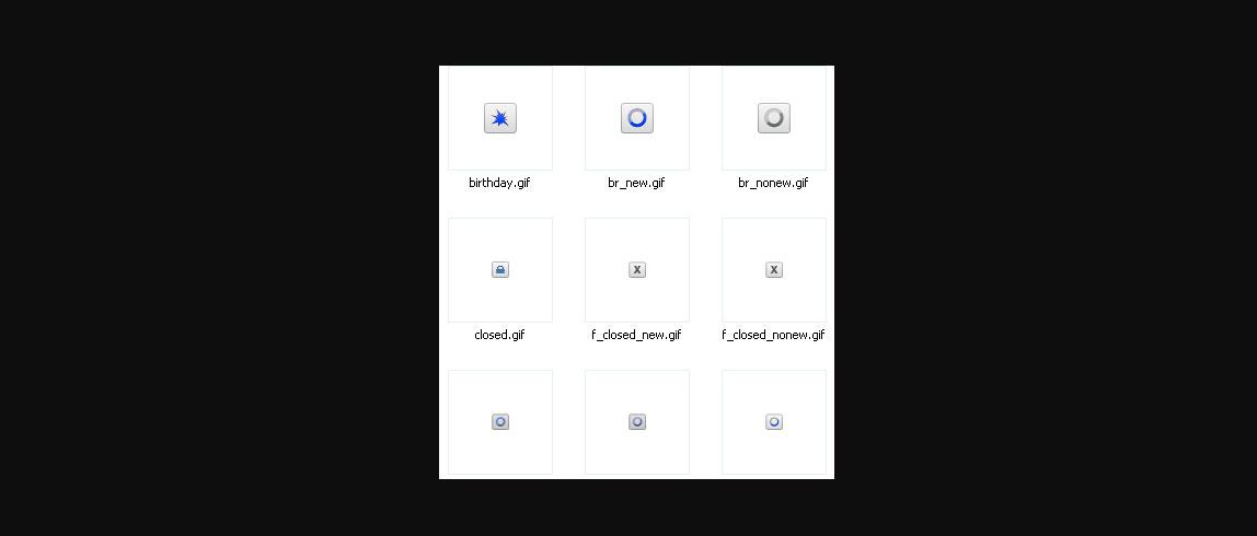 Светло-синие иконки форума для Ucoz
