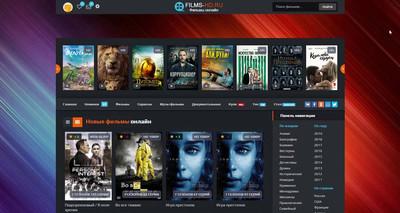 Стильный шаблон KinoFace для сайта юкоз